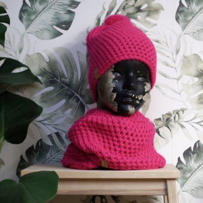 Czapka Neonowy Róż