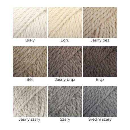 Karta kolorów 65% wełna/35% alpaka