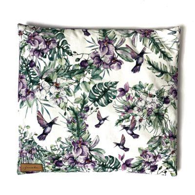 Poduszka z łuską gryki Kolibry i Storczyki
