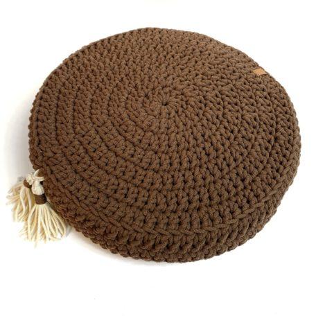 Poduszka inspirowana jogą. Mokka