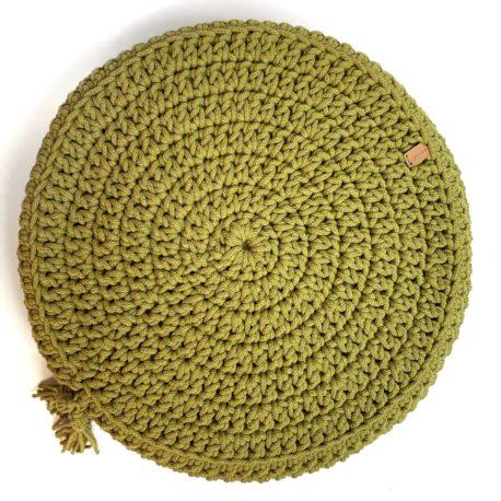 Poduszka inspirowana jogą. Kiwi