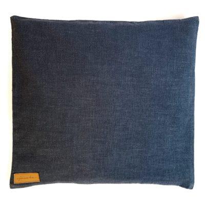 Poduszka z łuską gryki Ciemny Niebieski Len