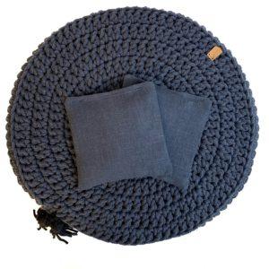 Woreczek lawendowy do poduszki Lniany RÓŻNE KOLORY – Granat