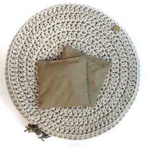 Woreczek lawendowy do poduszki Bawełniany RÓŻNE KOLORY – Ciemny beż
