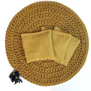 Woreczek lawendowy do poduszki Lniany RÓŻNE KOLORY – Musztarda