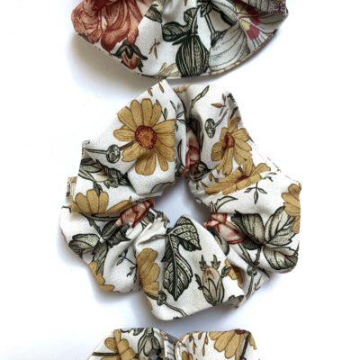 Scrunchie Kwiaty vintage