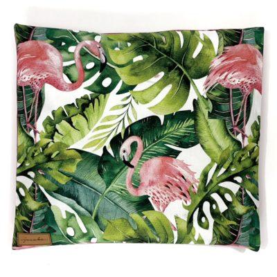 Poduszka z łuską gryki Flamingi i monstery